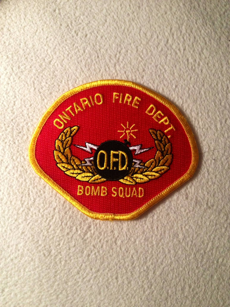 Ontario Fire Department Bomb Squad patch by JamestheRedEngine91
