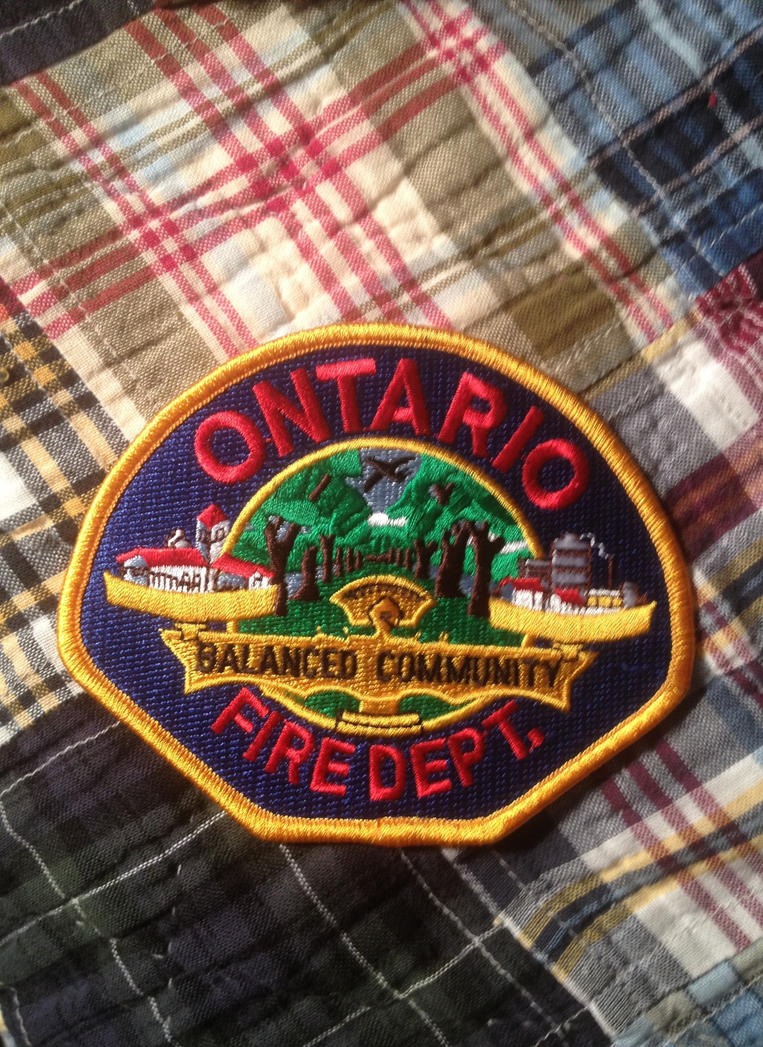 Ontario, California Fire Department patch by JamestheRedEngine91