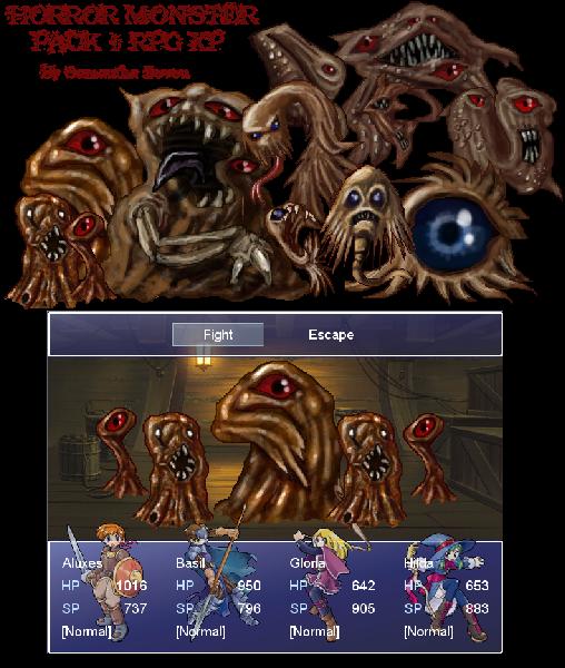 RPG Maker Xp Horror Monsters 1 by DarkSalvation on DeviantArt
