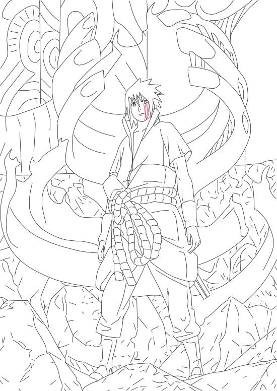 Sasuke Susanoo ... Madara Uchiha Susanoo Drawing