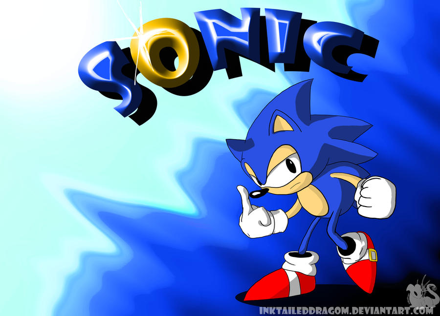 Classic Sonic Wallpaper By InkTailedDragon