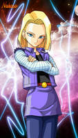 DBZ Android 18 Wallpaper by Nakaso