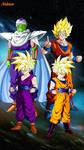 DBZ Goku Gohan and Piccolo