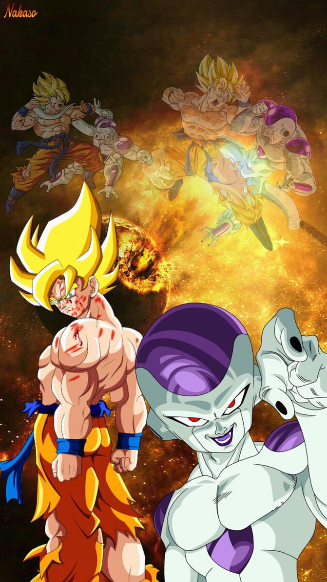 DBZ Goku VS Frieza Wallpaper By Nakaso