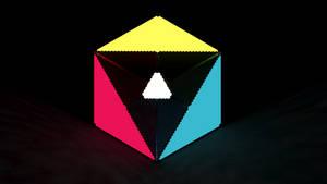 ''CMY.RGB'' Voxel Wallpaper