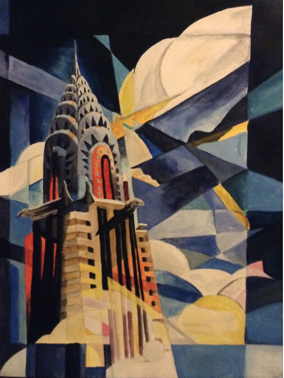 Painting Chrysler Building White Collar
