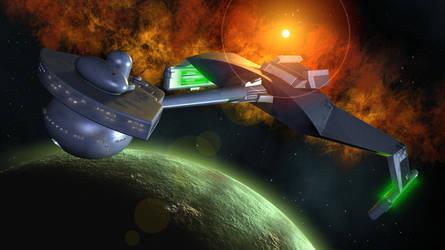 Klingon D7 by Spydraxis01