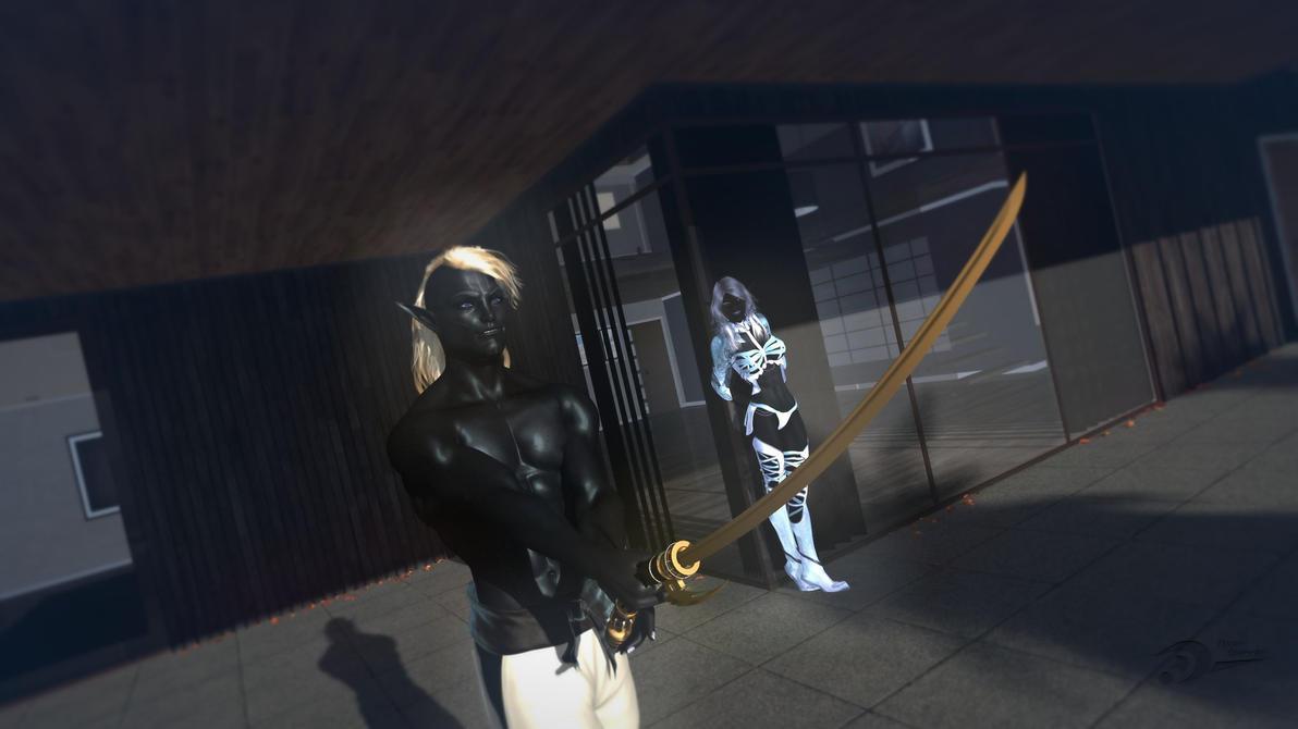 Obsidian Pair by Spydraxis01