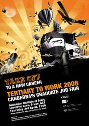 Tertiary To Work Sunburst by eep