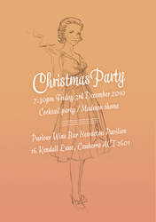 Madmen Christmas Party Invite by eep