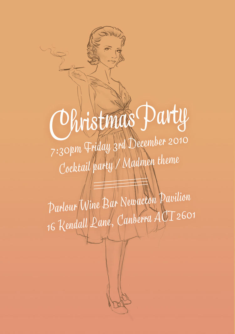 Madmen Christmas Party Invite by eep on DeviantArt