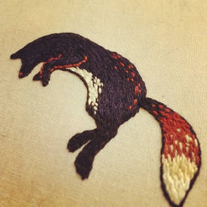 Fox embroidery sample