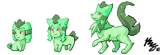Fakemon Grass Starter Evo Tree by kwsmithjr