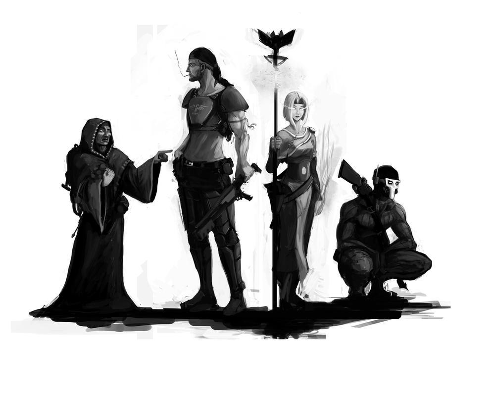 Dark Heresy fan art by Mothmandraws