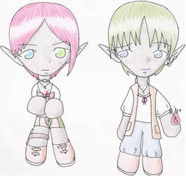 Tary + Leed --- Chibi by Koshiba