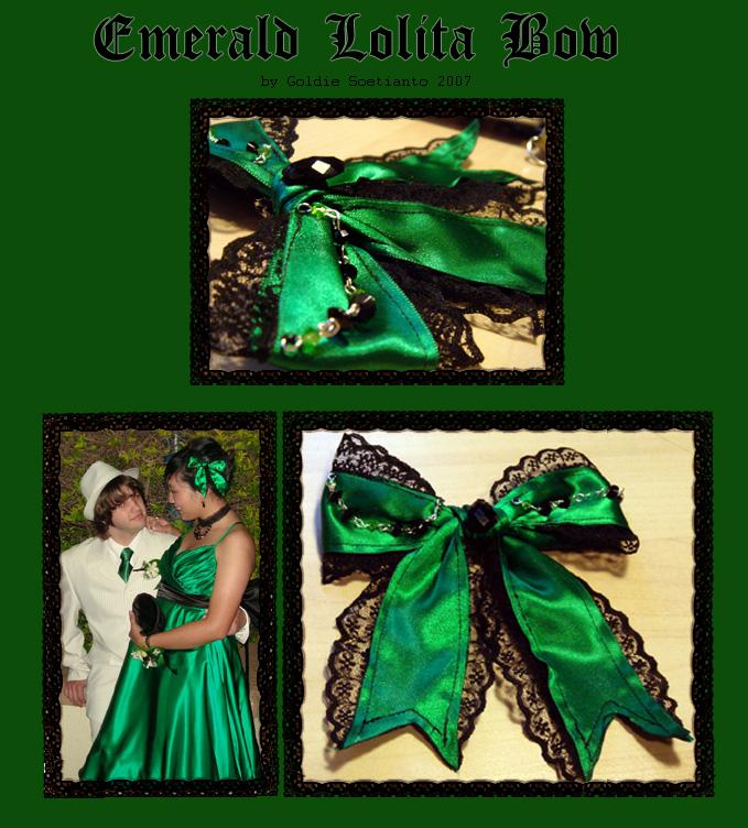 Emerald Lolita Bow by Thalionrin