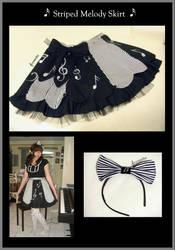Striped Melody Skirt