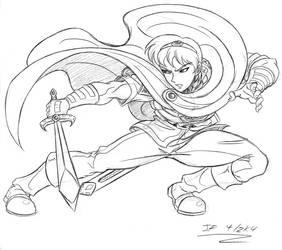 Marth sketch by Shikamaru-Trunks