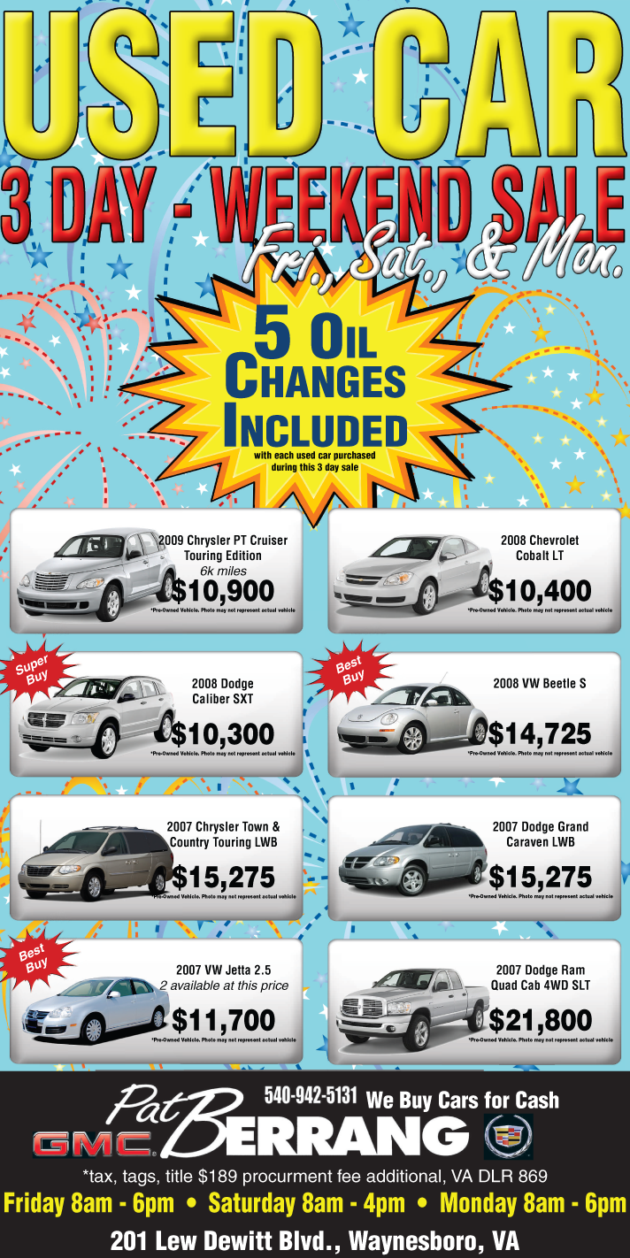 3 day Used Car Sale by Rebecca329