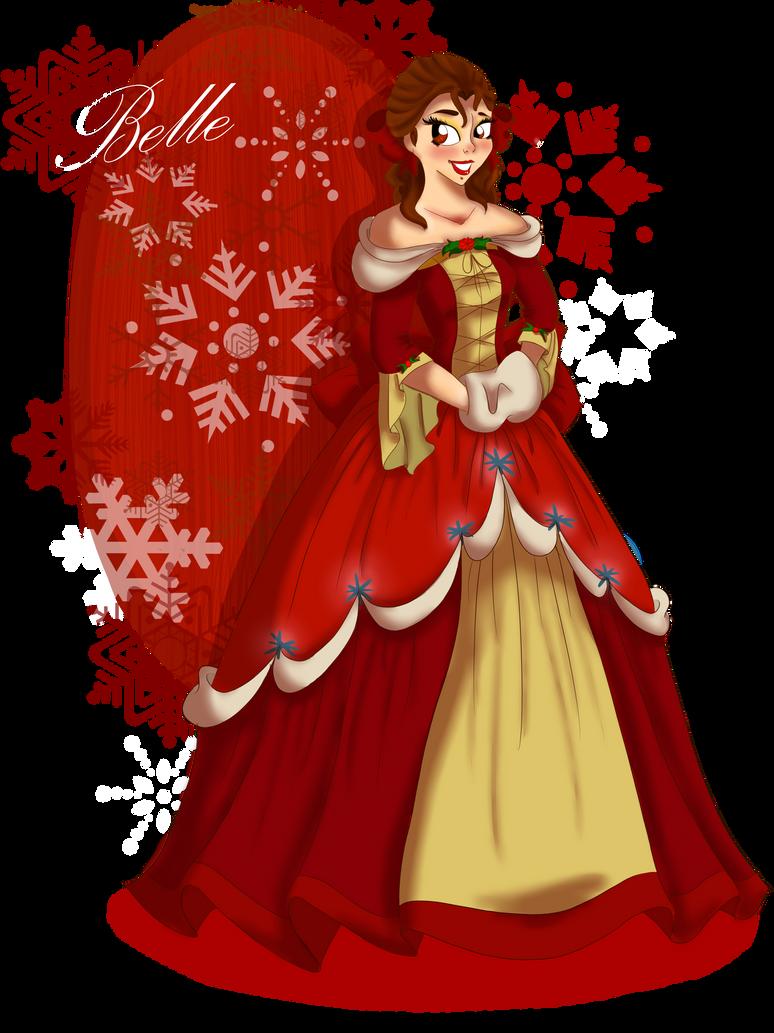 Christmas At Disney Belle By RockenRaccoon