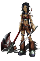 Barbarian Woman by Indie-Draws