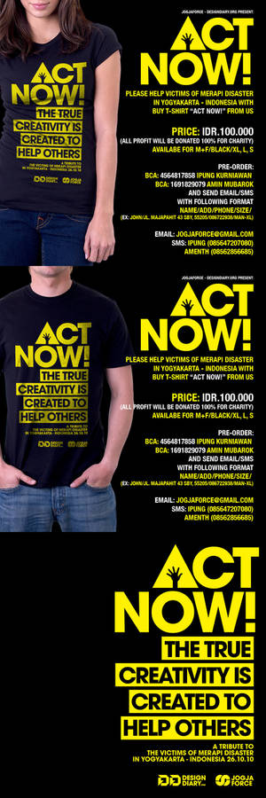 ACT NOW Charity T-Shirt