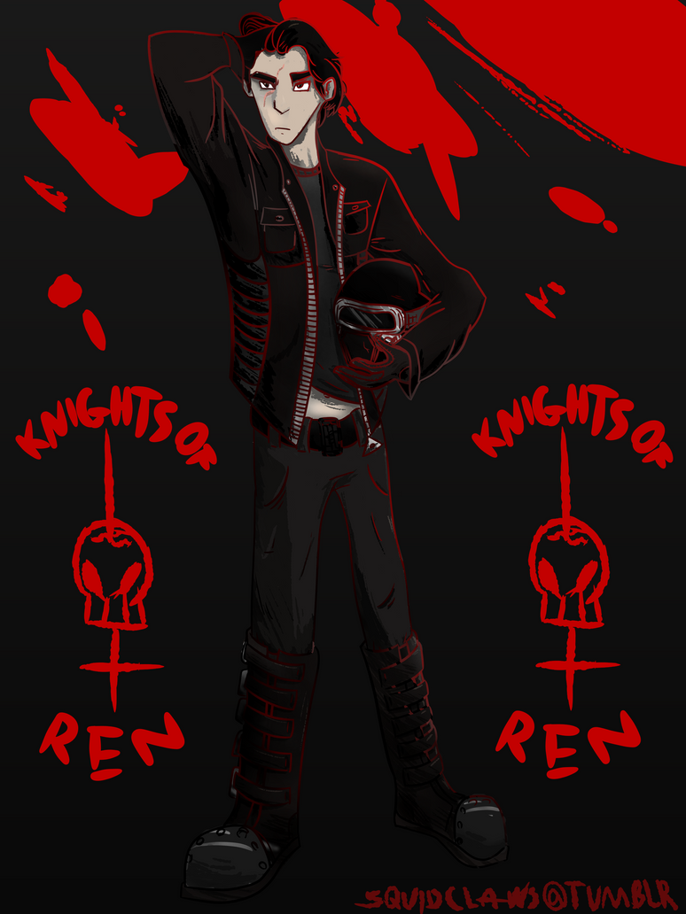 Kylo Ren-Biker AU by kraken-chan