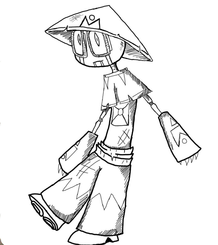 Line Drawing Robot : Isanami s cute robot dude line by einjel on deviantart