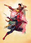 Spider-man Trio by SpiderGuile