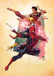 Spider-man Trio by SpiderGuile by RyanLord