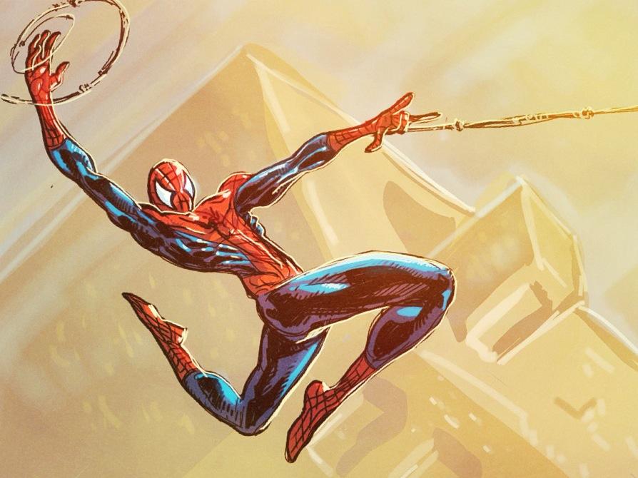 Spiderman iPad Sketch by Ryan Lord by RyanLord