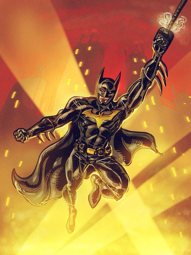 Batman iPad Sketch by Ryan Lord by RyanLord