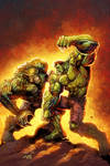 Hulk VS Abomination by Liam Sharp and Ryan Lord