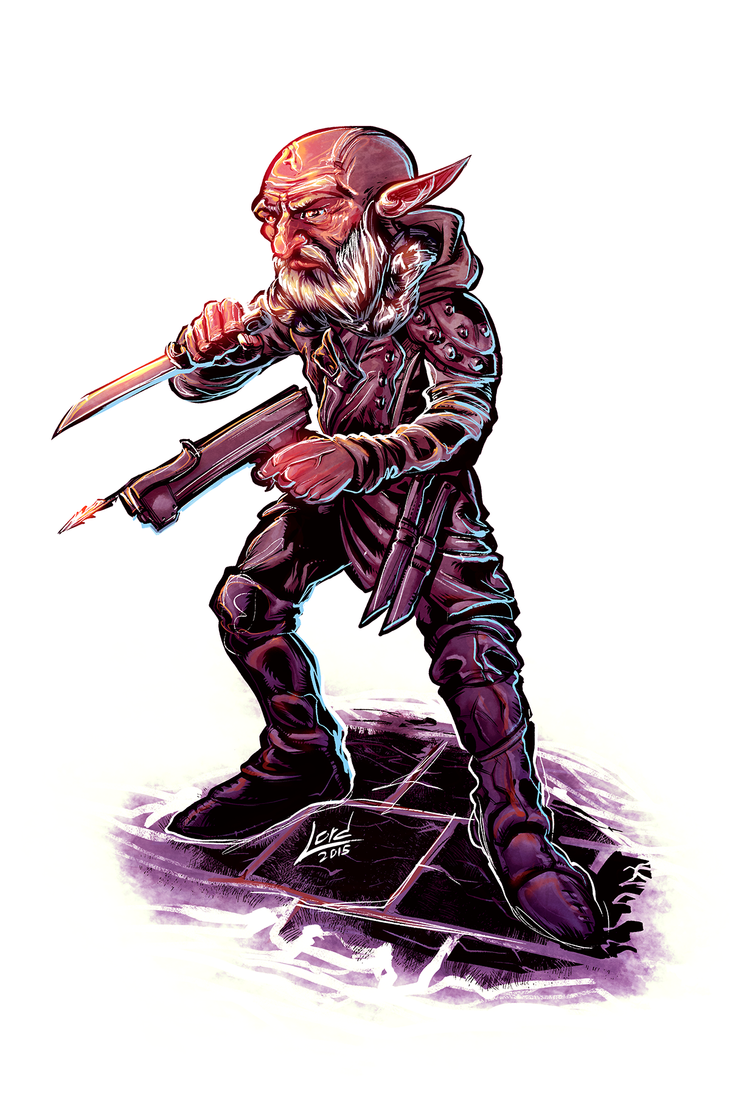 Dungeons and Dragons Gnome Rogue by RyanLord