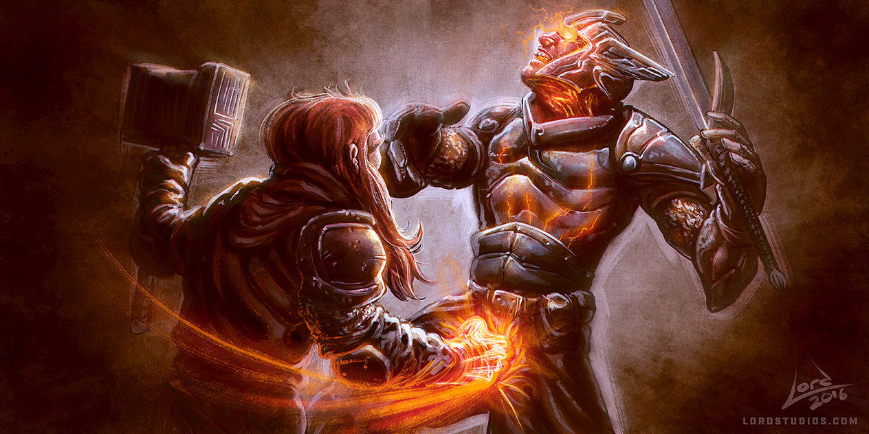Dwarven Cleric Inflict Wounds Critical Hit by RyanLord