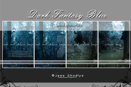 Dark Fantasy Blue Background