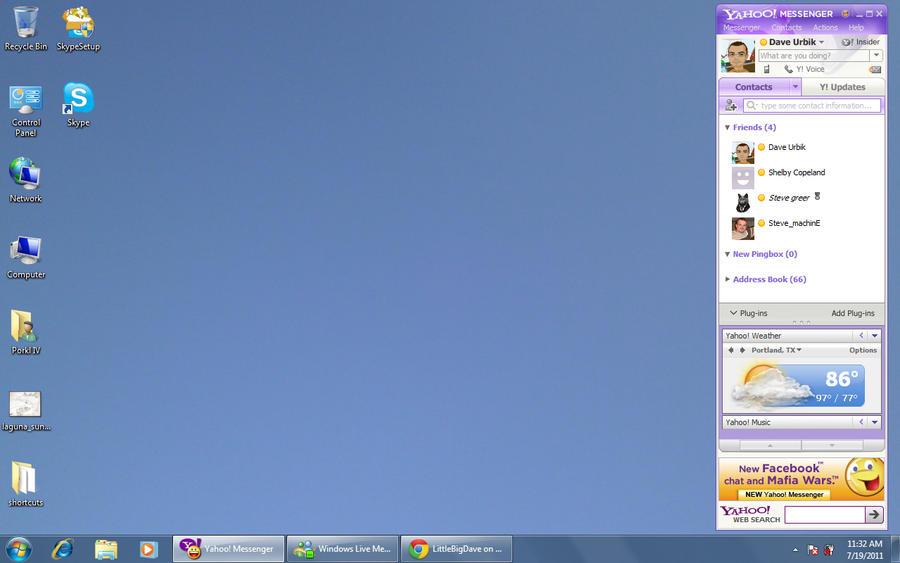 Desktop Screenshot 7-19-2011