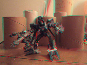 Decepticon Blackout in 3D by LittleBigDave