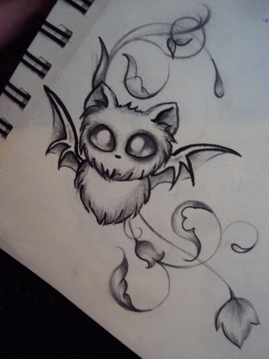 Значение татуировок для девушек летучая мышь