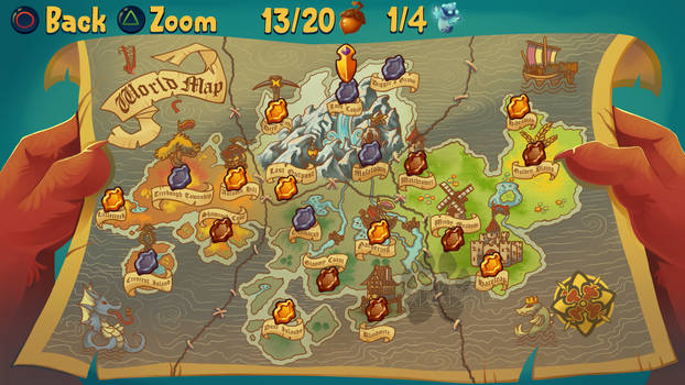 Acorn Quest - World Map
