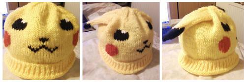 Floppy-eared Pikachu Hat by Stitch-Happy