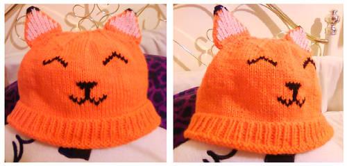 Smiling Fox Hat by Stitch-Happy