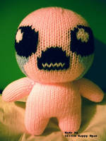 The Binding of Isaac - Knitted Isaac Plush by Stitch-Happy