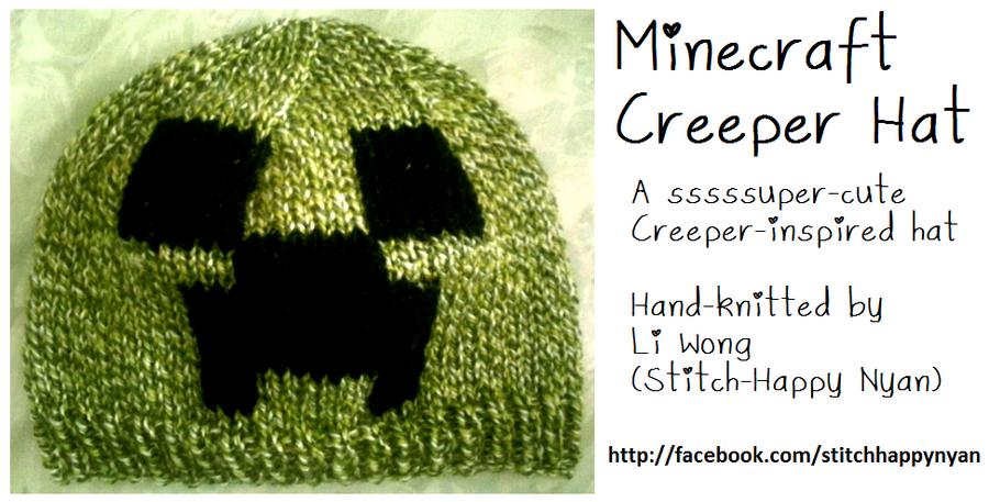 Knitted Minecraft Creeper Hat by Stitch-Happy on DeviantArt