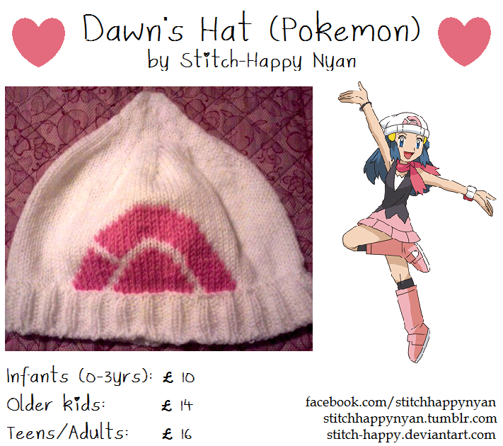Pokemon Trainer Dawn's Hat by Stitch-Happy