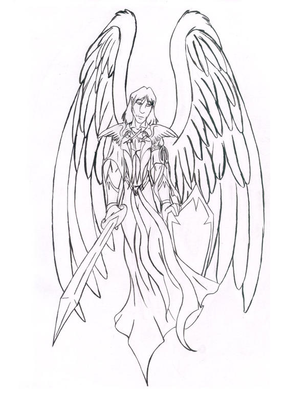Line Drawing Angel : Guardian angel line drawing pixshark images