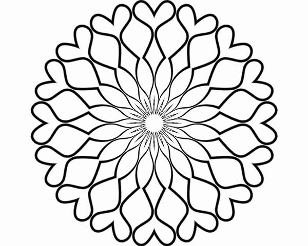 Mandala Coloring Page Blank Coloring Pages Blank Coloring Pages For Adults