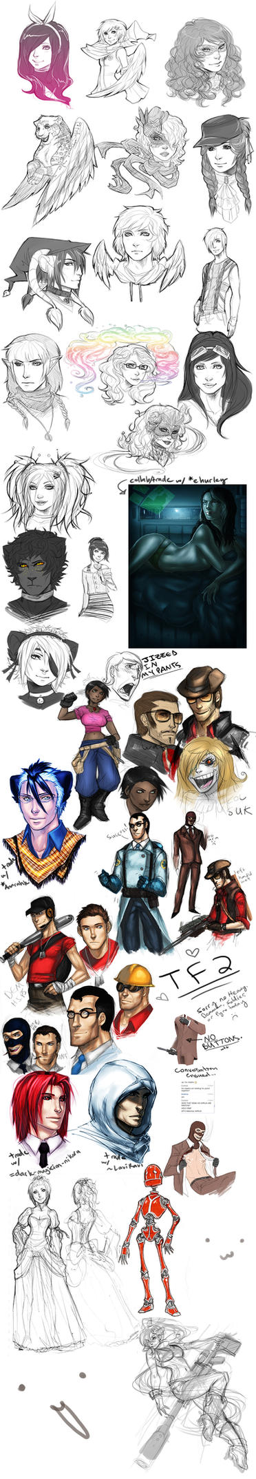 TF2 + trades SKETCH DUMP 2 by Pirate-Cashoo