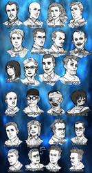BIOSHOCK CHARACTER SKETCHES by Pirate-Cashoo