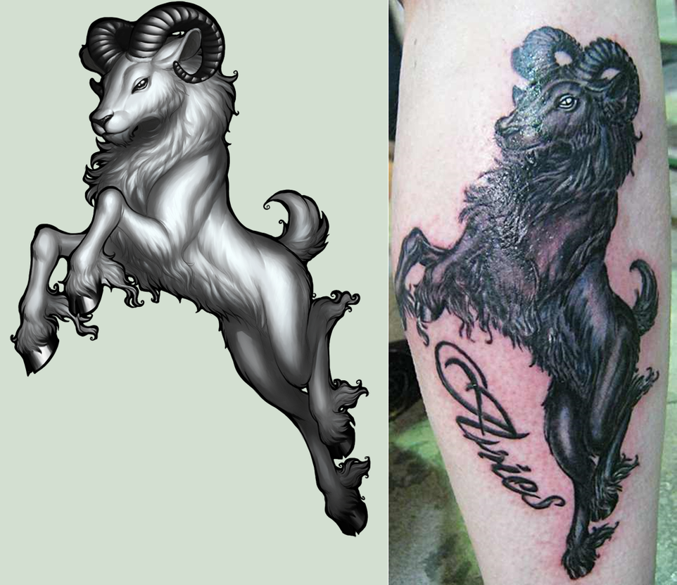 Awesome Aries Tattoo Designs: Aries + TATTOO By Pirate-Cashoo On DeviantArt